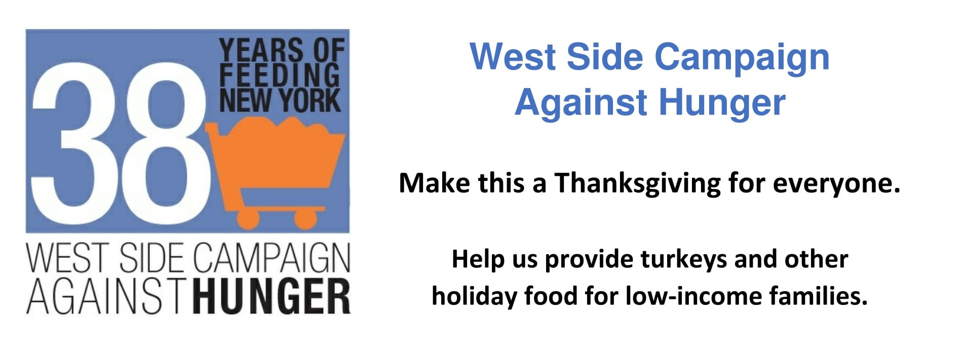 West Side Campaign Against Hunger Thousand Turkey Challenge