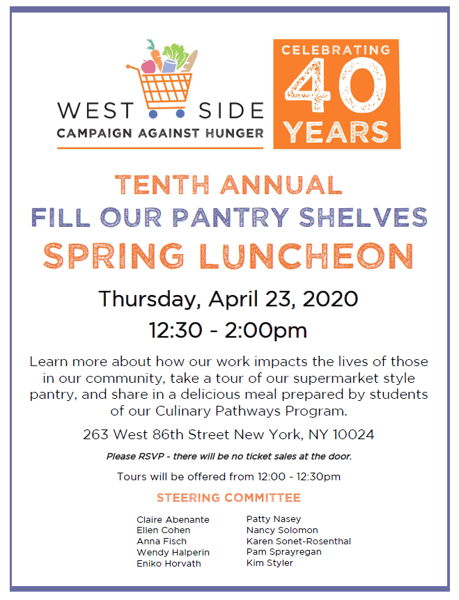 West Side Campaign Against Hunger Spring Luncheon